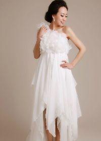 Шифоновое платье со шлейфом 9