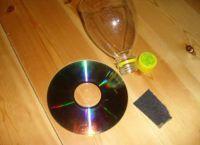 Кашпо из пластиковых бутылок3