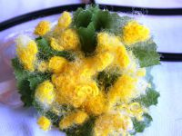 мимоза цветок поделка17