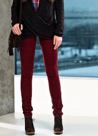 женские вельветовые брюки 2