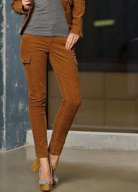 женские вельветовые брюки 3