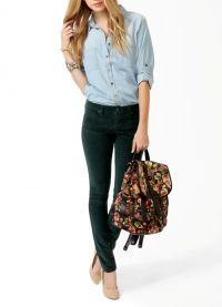 женские вельветовые брюки 5