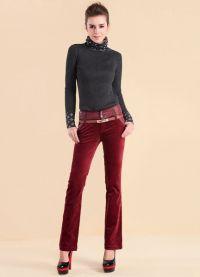 женские вельветовые брюки 9