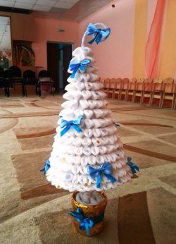 поделка для детского сада новогодняя елка 11