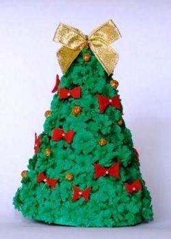 поделка для детского сада новогодняя елка 12