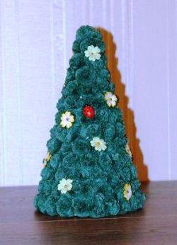 поделка для детского сада новогодняя елка 13