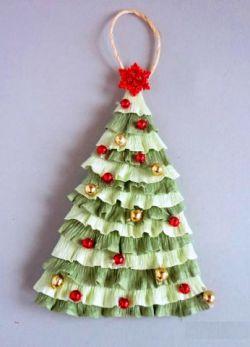 поделка для детского сада новогодняя елка 18