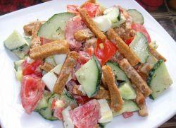 как сделать салат с сухариками