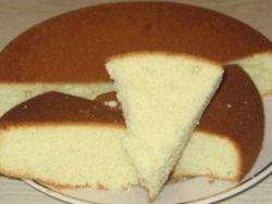 простой бисквит на кефире
