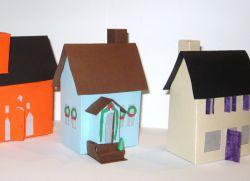 как сделать дом из бумаги