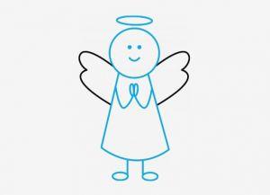как нарисовать ангела 4