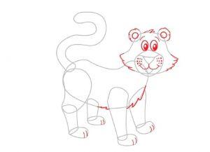Как нарисовать тигра 17