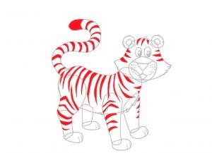 Как нарисовать тигра 18