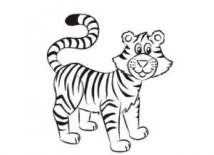 Как нарисовать тигра 19