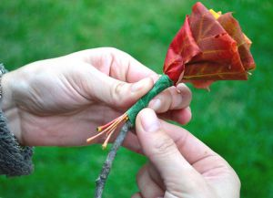 Осенний букет своими руками в школу 6