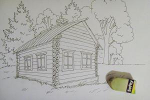 как нарисовать дом 13