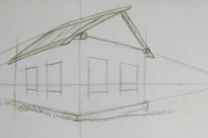 как нарисовать дом 7