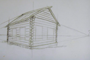 как нарисовать дом 8