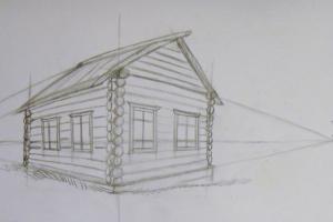 как нарисовать дом 9