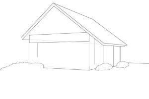 как нарисовать дом 16