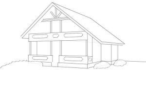 как нарисовать дом 17