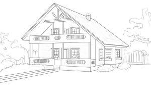 как нарисовать дом 18