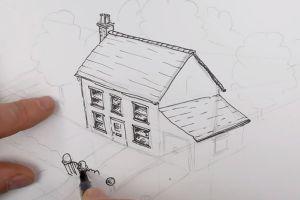 как нарисовать дом 21
