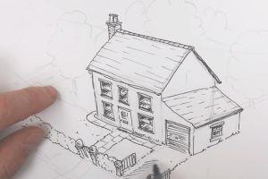 как нарисовать дом 22
