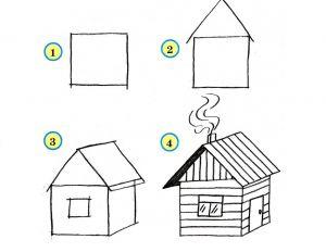 как нарисовать дом 24