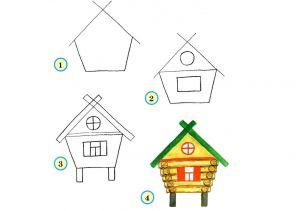 как нарисовать дом 25