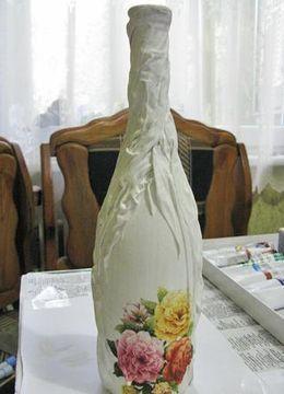 декорирование бутылок своими руками 34
