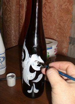декорирование бутылок своими руками 38