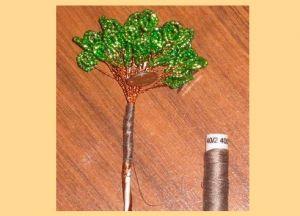 денежное дерево из бисера15