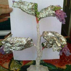 дерево из бисера глициния 24
