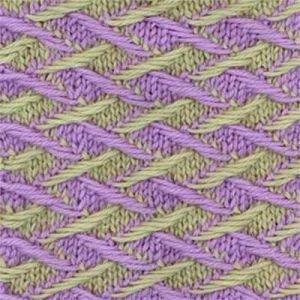 двухцветные узоры спицами 4