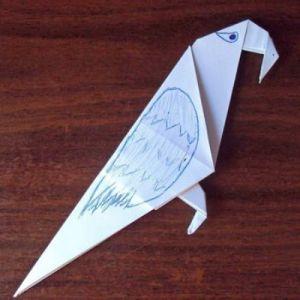 Как сделать из бумаги попугая
