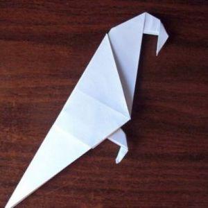 Как сделать из бумаги попугая 21