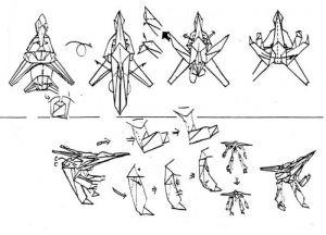 Как сделать из бумаги трансформера 15