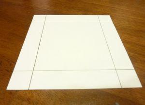 как сделать коробку из бумаги 1