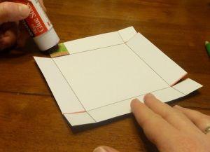 как сделать коробку из бумаги 5