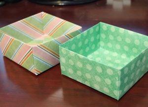 как сделать коробку из бумаги 54