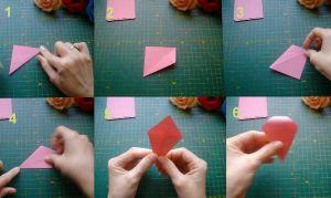 Как сделать розочку из бумаги1