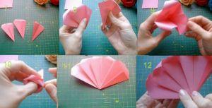 Как сделать розочку из бумаги2