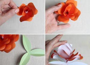 Как сделать розочку из бумаги9