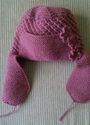 Как связать спицами шапку ушанку 6