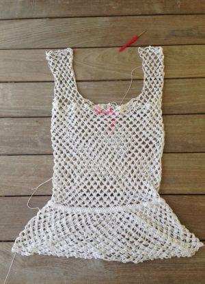 Пляжное платье крючком 24