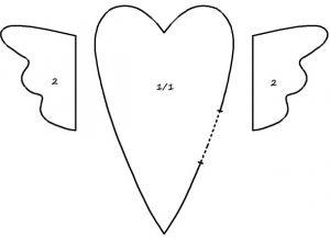 тильда сердце выкройка 23