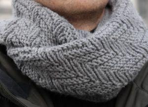 Узоры спицами для мужских шарфов_1