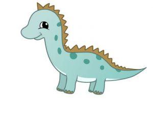 как нарисовать динозавра 14