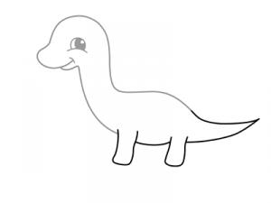 как нарисовать динозавра 17